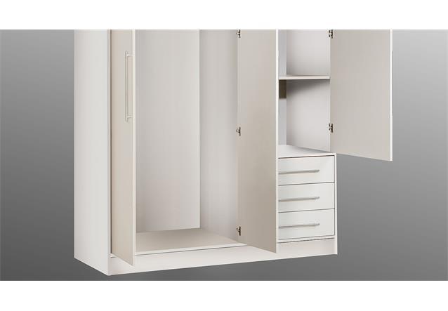 kleiderschrank jupiter dreht renschrank schrank in wei 144 cm ebay. Black Bedroom Furniture Sets. Home Design Ideas
