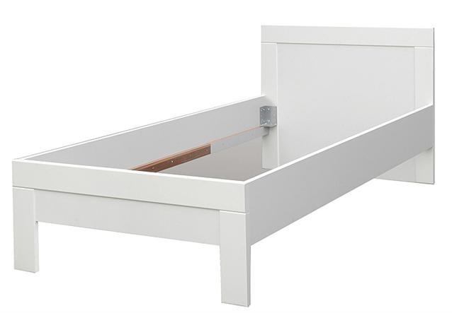 bett snow jugendzimmerbett kinderzimmerbett in wei matt 90x200 cm ebay. Black Bedroom Furniture Sets. Home Design Ideas