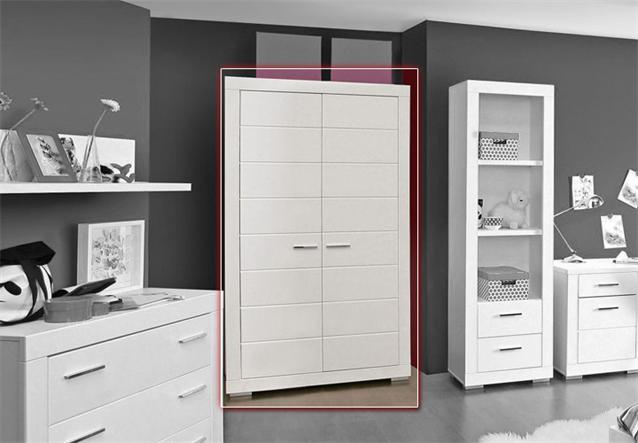 kleiderschrank snow schrank jugendzimmerschrank in wei matt 115 cm ebay. Black Bedroom Furniture Sets. Home Design Ideas