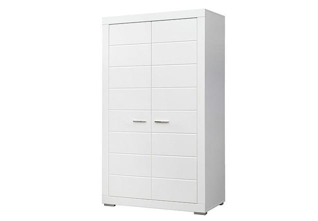 kleiderschrank snow schrank jugendzimmerschrank in wei matt 115 cm. Black Bedroom Furniture Sets. Home Design Ideas