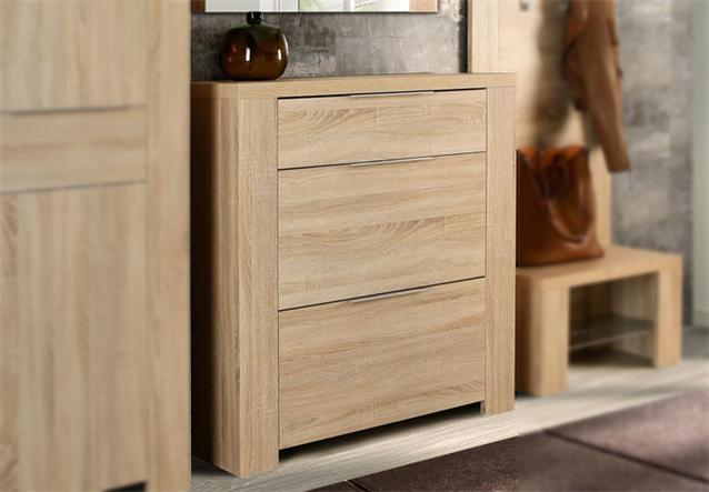 schuhschrank calpe garderobe kommode in sonoma eiche dekor. Black Bedroom Furniture Sets. Home Design Ideas