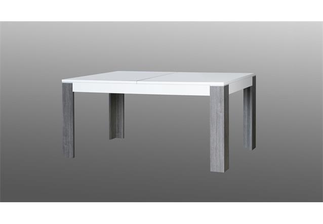 esstisch wave tisch esszimmertisch wei hochglanz eiche grau ausziehbar 160 200 ebay. Black Bedroom Furniture Sets. Home Design Ideas