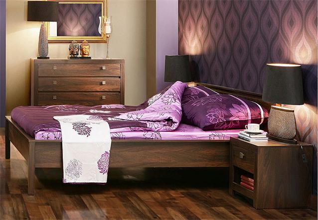 schlafzimmer set ii indigo schrank bett eiche durance. Black Bedroom Furniture Sets. Home Design Ideas