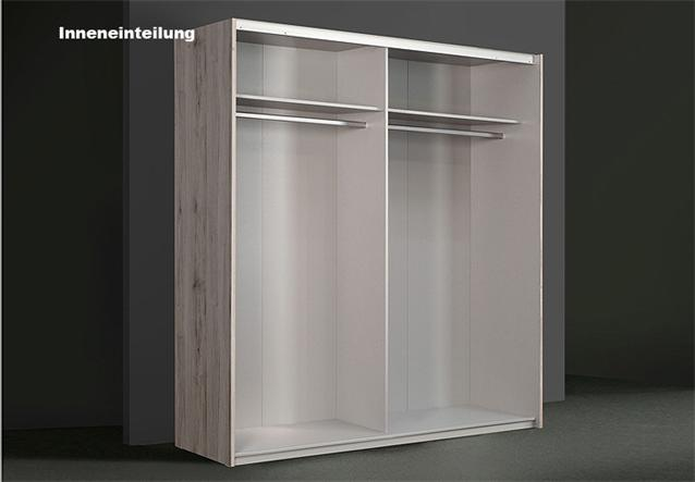 schwebet renschrank winner kleiderschrank sandeiche wei 150 cm ebay. Black Bedroom Furniture Sets. Home Design Ideas
