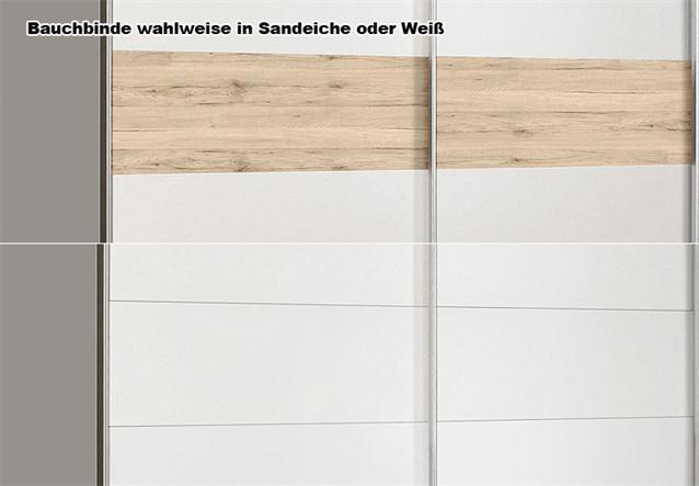 schwebet renschrank winner kleiderschrank wei sandeiche 170 cm. Black Bedroom Furniture Sets. Home Design Ideas