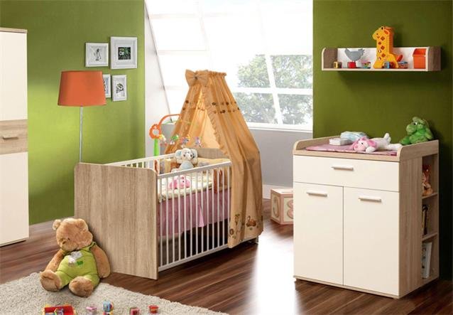 wickelkommode winnie 2 t rig babyzimmer sonoma eiche dekor. Black Bedroom Furniture Sets. Home Design Ideas
