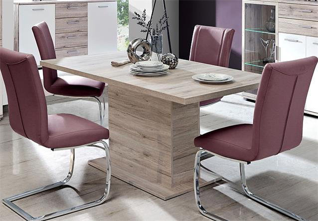 esstisch beach tisch esszimmertisch sandeiche synconauszug 160 200 ebay. Black Bedroom Furniture Sets. Home Design Ideas