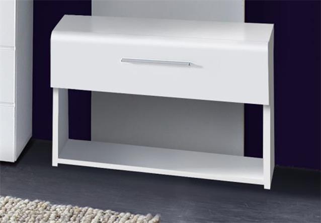 garderobenset polar garderobe wei hochglanz eiche schwarz. Black Bedroom Furniture Sets. Home Design Ideas