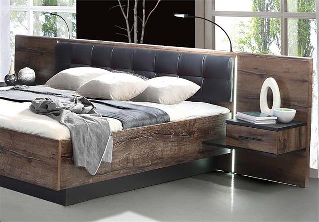 schlafzimmer bellevue mit dreht renschrank schwarzeiche und schlammeiche ebay. Black Bedroom Furniture Sets. Home Design Ideas