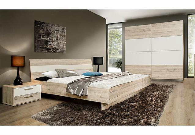schlafzimmerset valerie schlafzimmer schrank bett nako in sandeiche wei ebay. Black Bedroom Furniture Sets. Home Design Ideas