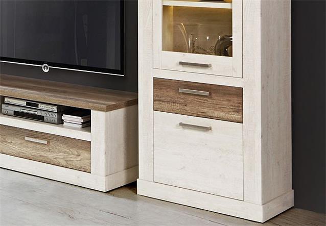 wohnwand 3 duro anbauwand wohnkombi wohnzimmer in pinie wei bielefeld. Black Bedroom Furniture Sets. Home Design Ideas
