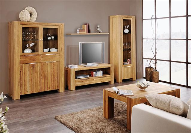 couchtisch linz tisch in wild eiche massiv neu 130x80 cm ebay. Black Bedroom Furniture Sets. Home Design Ideas