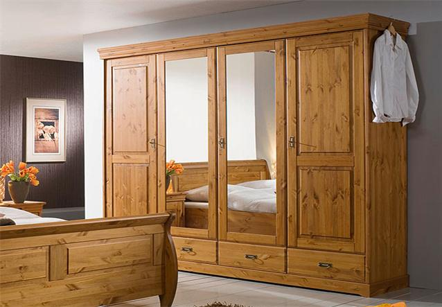 schlafzimmer set roland schrank bett nako kiefer massiv honig neu ebay. Black Bedroom Furniture Sets. Home Design Ideas