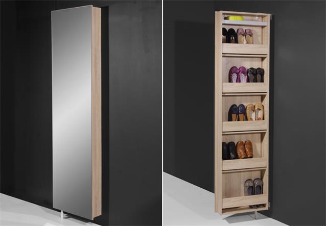 drehschrank 1189 mehrzweckschrank schuhschrank sonoma eiche mit spiegel germania ebay. Black Bedroom Furniture Sets. Home Design Ideas