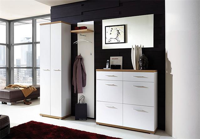 schuhschrank 2 top schuhkommode schuhregal in wei sonoma. Black Bedroom Furniture Sets. Home Design Ideas