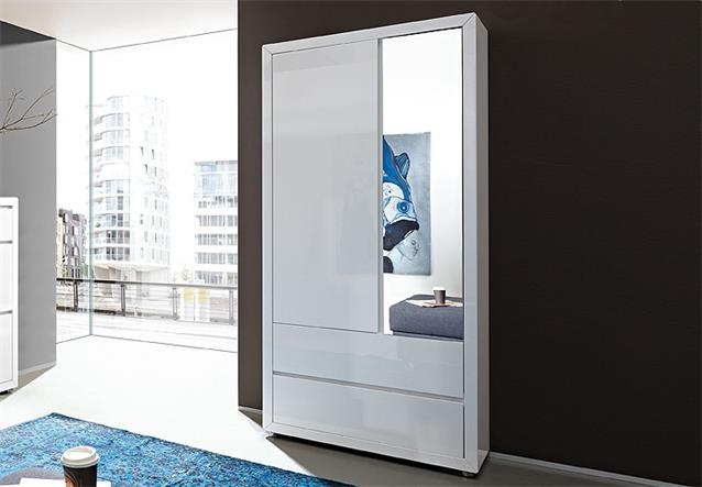 garderobenschrank fino dielenschrank schrank wei hochglanz lack germania. Black Bedroom Furniture Sets. Home Design Ideas