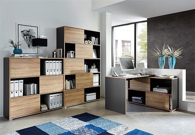 b ro set slide b roprogramm b rom bel anthrazit sonoma. Black Bedroom Furniture Sets. Home Design Ideas