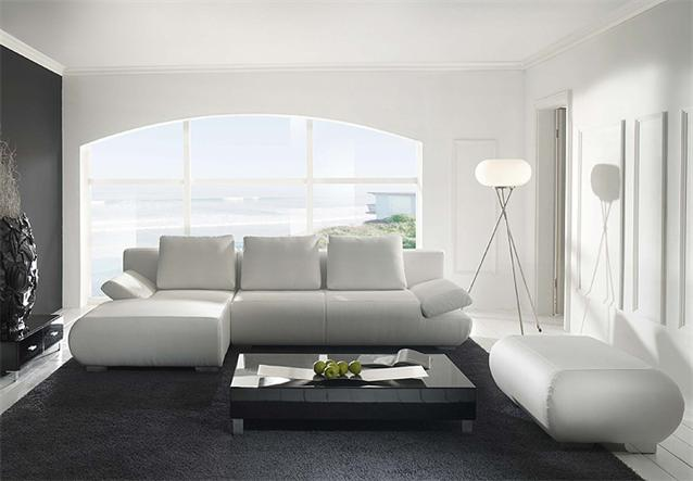 ecksofa latina sofa in wei f e in chrom inklusive 3 kissen ebay. Black Bedroom Furniture Sets. Home Design Ideas