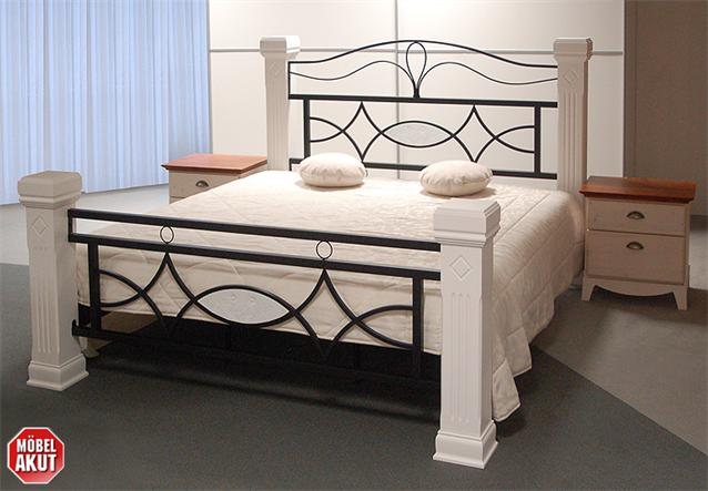 holz metall bett marco lattenrost in wei b 160 cm ebay. Black Bedroom Furniture Sets. Home Design Ideas