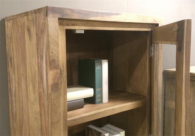 vitrine conga schrank wohnzimmerschrank in sheesham massiv ge lt ebay. Black Bedroom Furniture Sets. Home Design Ideas