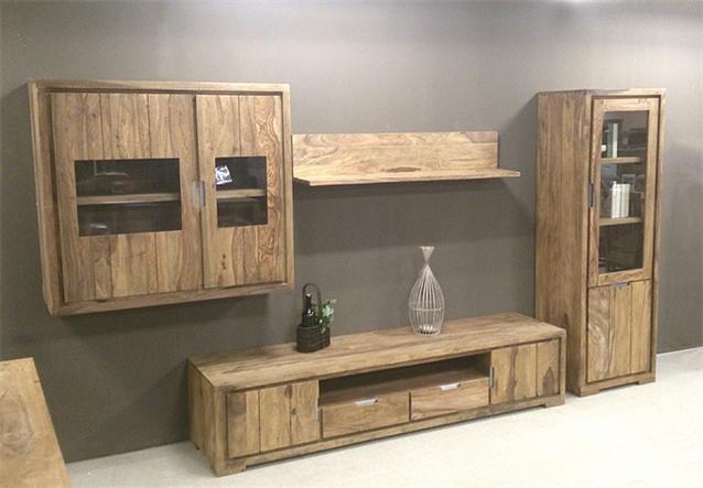 h ngevitrine conga h ngeschrank vitrine in sheesham massiv ge lt neu ebay. Black Bedroom Furniture Sets. Home Design Ideas
