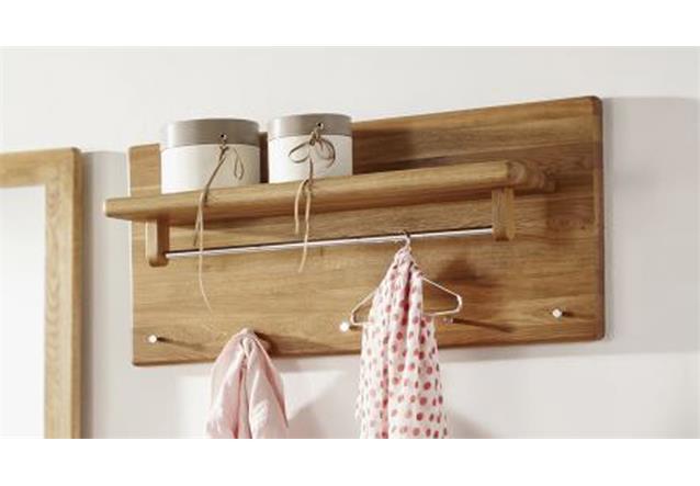 garderobenpaneel km 0240 wandpaneel kleiderhaken garderobe wildeiche massiv ebay. Black Bedroom Furniture Sets. Home Design Ideas
