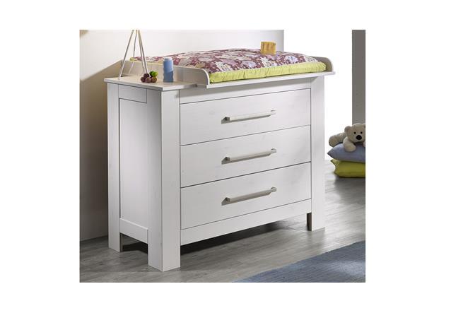 wickelkommode emma wickeltisch babyzimmer in kiefer massiv wei ebay. Black Bedroom Furniture Sets. Home Design Ideas