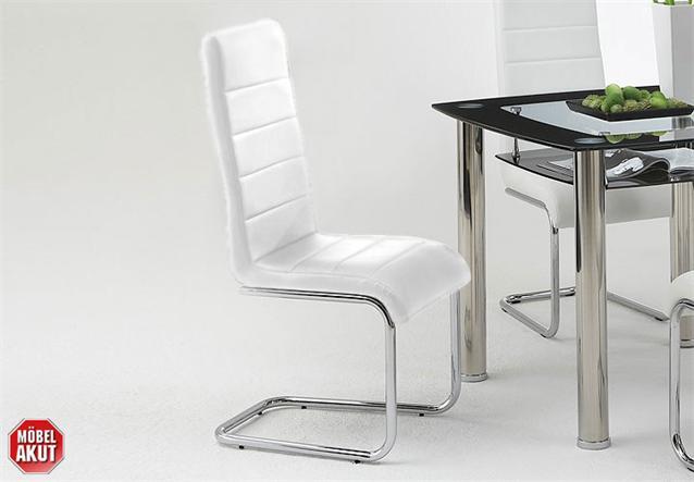 4er set schwingstuhl joly in wei und chrom neu. Black Bedroom Furniture Sets. Home Design Ideas