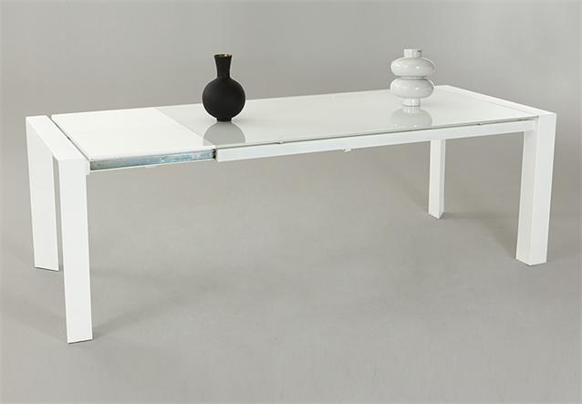 esstisch cosima tisch in wei glas lack wei hochglanz ausziehbar 180 230x90 ebay. Black Bedroom Furniture Sets. Home Design Ideas