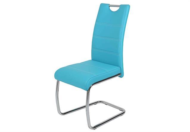 Schwingstuhl flora 4er set stuhl esszimmerstuhl in petrol for Design stuhl flora