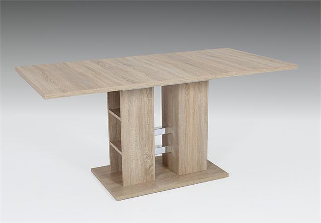 esstisch steffi tisch esszimmertisch in sonoma eiche ausziehbar 120 160x80 cm. Black Bedroom Furniture Sets. Home Design Ideas