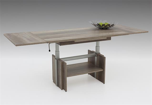 couchtisch jerome beistelltisch tisch monument oak ausziehbar h henverstellbar ebay. Black Bedroom Furniture Sets. Home Design Ideas