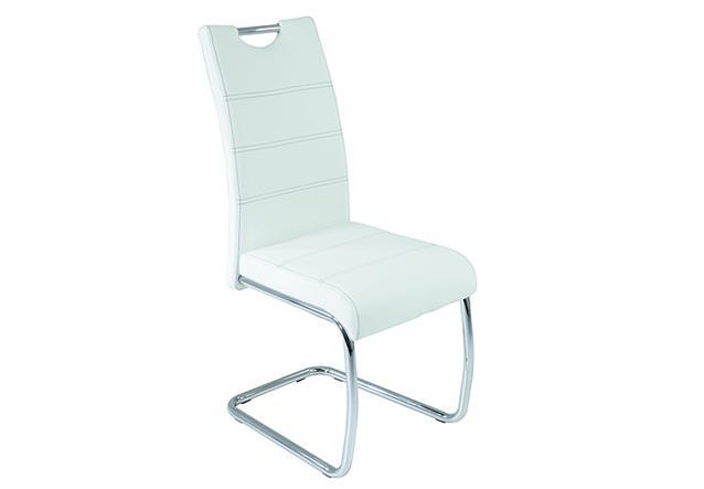 Schwingstuhl flora 4er set stuhl esszimmerstuhl in wei for Design stuhl flora