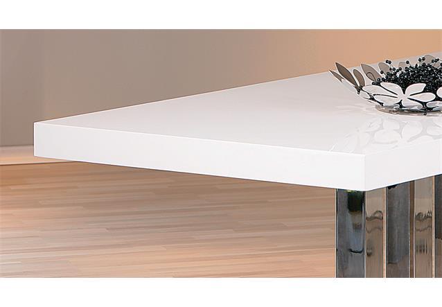 esstisch palazzo esszimmertisch tisch mdf wei hochglanz metall verchromt 160x90 ebay. Black Bedroom Furniture Sets. Home Design Ideas