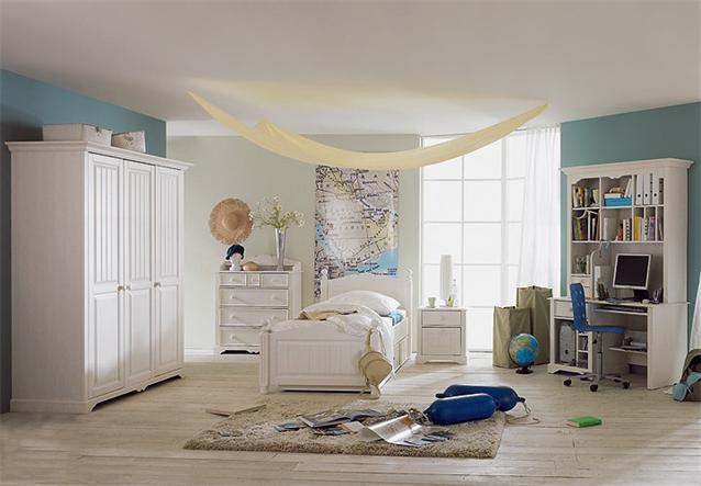 7 tlg jugendzimmer luzi kiefer massiv wei neu ebay. Black Bedroom Furniture Sets. Home Design Ideas