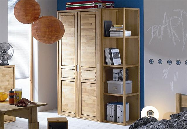 kleiderschrank fynn schrank in erle teilmassiv ge lt 107x209x54 cm ebay. Black Bedroom Furniture Sets. Home Design Ideas