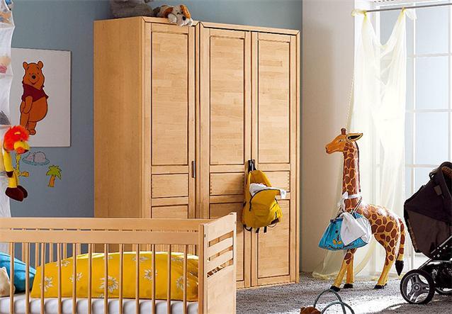 babyzimmer fynn bett wickelkommode birke teilmassiv neu ebay. Black Bedroom Furniture Sets. Home Design Ideas