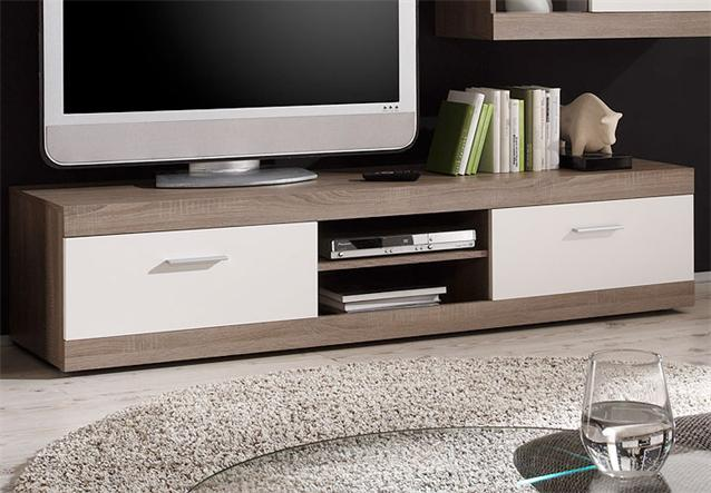 wohnwand maxime anbauwand wei sonoma eiche inkl led neu. Black Bedroom Furniture Sets. Home Design Ideas