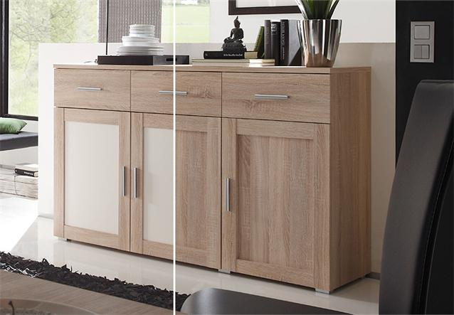 sideboard aristo anrichte kommode sonoma eiche magnolia wendef llung ebay. Black Bedroom Furniture Sets. Home Design Ideas