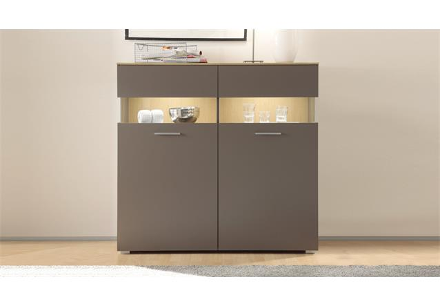 kommode 2 xero highboard schrank vitrine in grau und bielefeld. Black Bedroom Furniture Sets. Home Design Ideas