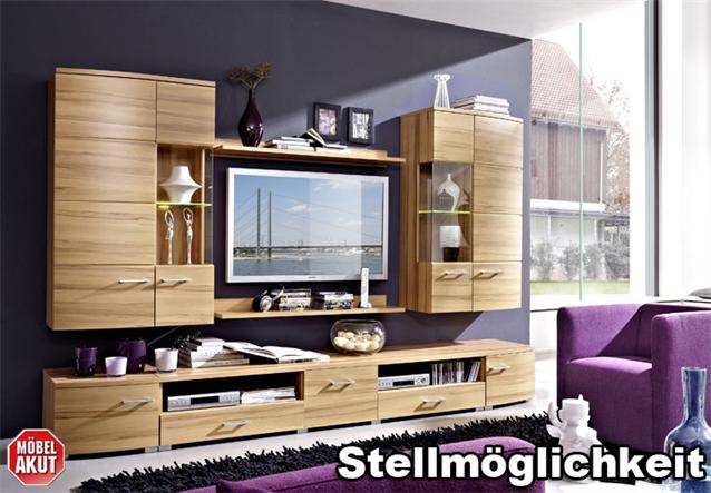 wohnwand loca anbauwand wohnzimmer hiddensee buche inkl. Black Bedroom Furniture Sets. Home Design Ideas