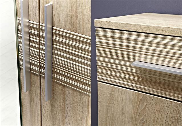 garderobenset point garderobe in sonoma eiche hell ebay. Black Bedroom Furniture Sets. Home Design Ideas