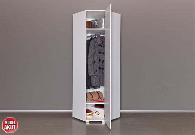 eck garderobenschrank jado garderobe schrank in wei hochglanz 65 cm ebay. Black Bedroom Furniture Sets. Home Design Ideas
