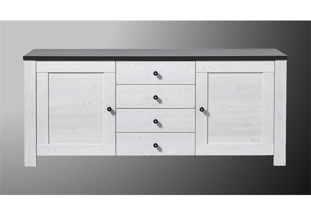 sideboard antwerpen kommode anrichte in l rche und pinie dunkel ebay. Black Bedroom Furniture Sets. Home Design Ideas