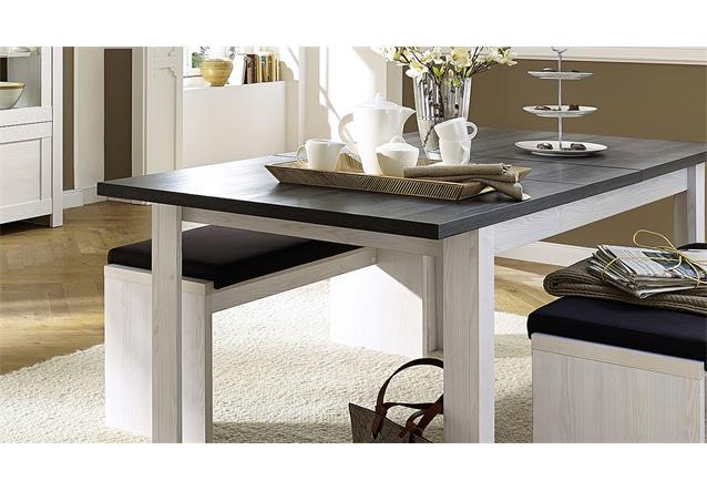esstisch antwerpen tisch esszimmertisch l rche pinie dunkel ausziehbar 160 200 ebay. Black Bedroom Furniture Sets. Home Design Ideas