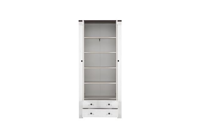garderobenschrank 2 antwerpen garderobe in l rche und pinie dunkel mit spiegel ebay. Black Bedroom Furniture Sets. Home Design Ideas