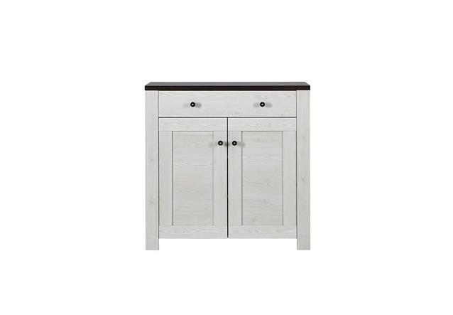 schuhschrank 2 antwerpen schuhkommode garderobe in l rche und pinie dunkel ebay. Black Bedroom Furniture Sets. Home Design Ideas