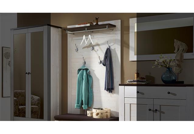 garderobenpaneel antwerpen paneel wandpaneel in l rche und pinie dunkel ebay. Black Bedroom Furniture Sets. Home Design Ideas
