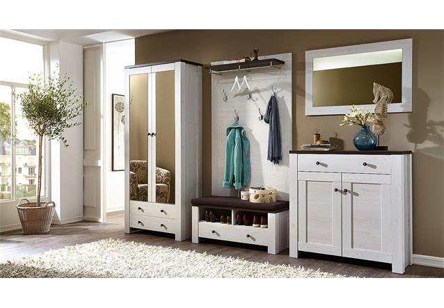 garderobenset antwerpen 1 garderobe flurm bel in l rche und pinie dunkel ebay. Black Bedroom Furniture Sets. Home Design Ideas