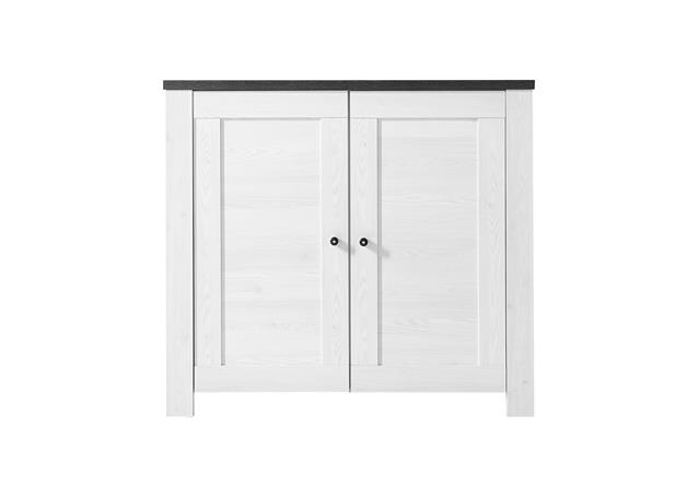 kommode antwerpen 1 sideboard anrichte in l rche und pinie dunkel ebay. Black Bedroom Furniture Sets. Home Design Ideas
